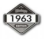 VIntage Edition 1963 Classic Retro Cafe Racer Design External Vinyl Car Motorcyle Sticker 85x70mm